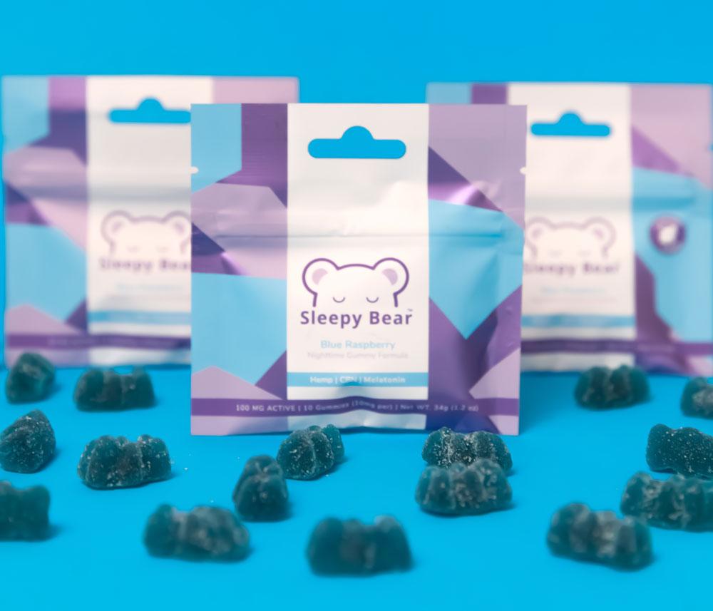 Sleepy Bear Blue Raspberry CBD Gummies